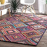 Geometric Soft Abstract Diamond Trellis Area Rug For Sale