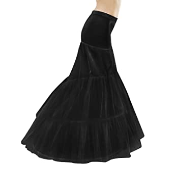 ada099dc8b42 Mermaid Fishtail Petticoat Slip Full Shape Floor-Length Dress Gown Evening  Party Black White S/M L XL