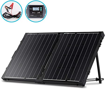 side facing renogy 100-watt 12 volt portable solar panel