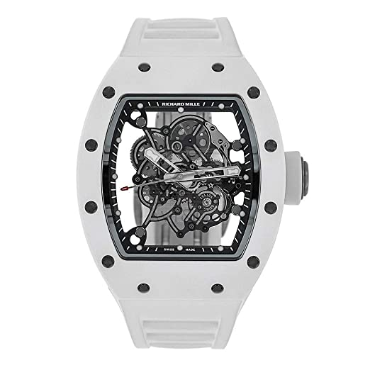 Richard Mille Bubba Watson RM055 - Reloj para Hombre (49 mm), Color Blanco y Titanio: Amazon.es: Relojes