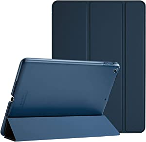 ProCase iPad 9.7 Case 2018 iPad 6th Generation Case / 2017 iPad 5th Generation Case - Ultra Slim Lightweight Stand Case with Translucent Frosted Back Smart Cover for Apple iPad 9.7 Inch –Navy Blue