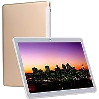 Tablet PC HD 10 pulgadas Oro (Android 7.0, 4GB de RAM, 64GB de Memoria Interna,3G double-sim, Bluetooth, GPS, WiFi, OTG)