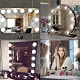 Hollywood Mirror Light, LEEGOAL Hollywood Style LED Vanity Makeup Mirror Lights Kit with 10 Dimmable Bulbs, Lighting Fixture Strip for Makeup Dressing (Mirror Not Include), US Plug