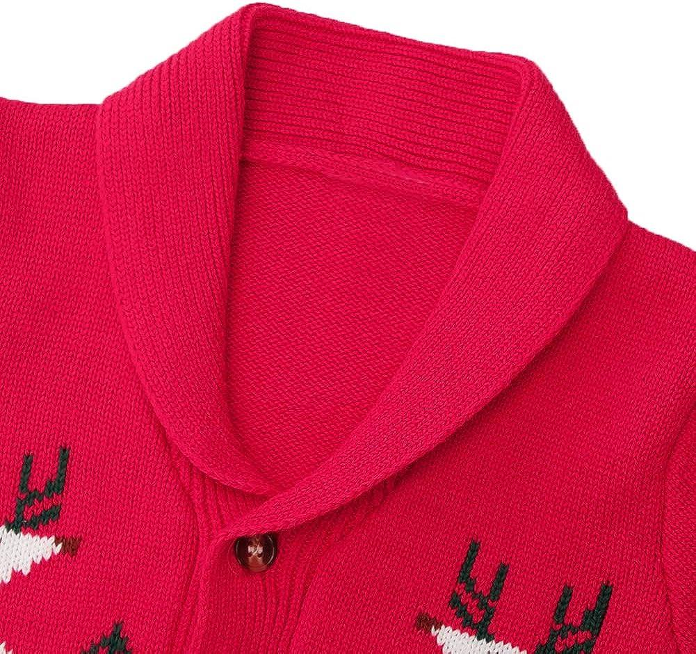 ZOEREA Toddler Unisex Baby Button-up Cotton Coat Deer Christmas Cardigan Sweater
