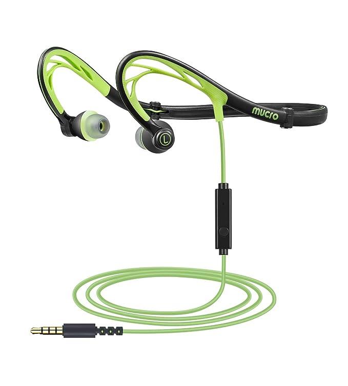 MUCRO Auriculares Deportivos Plegables con Cable, Banda para el ...