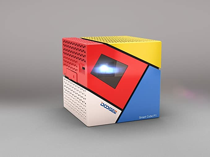DOOGEE Cube P1 proyector inteligente mini DLP LED HD 70 lúmenes ...