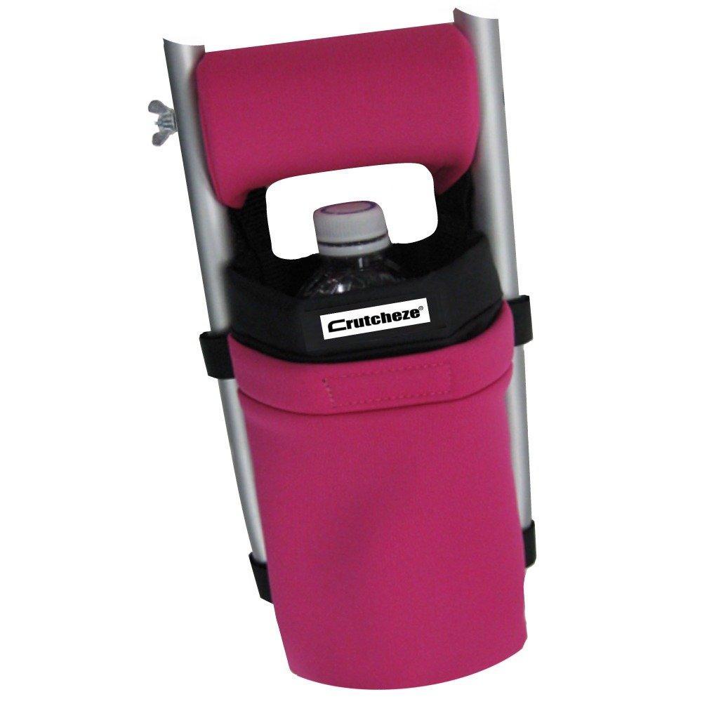 Crutcheze Sport Pink Crutch Bag, Pouch, Pocket Designer Fashion Accessories for Underarm Crutches Made in USA