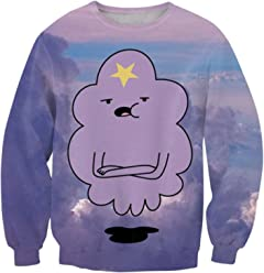 ZURIC Fashion Women 3D Print Cartoon Lumpy Space Princess Funny Sweatshirt