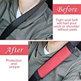 SEG Direct Black and Red Seat Belt Pads Pack of 2