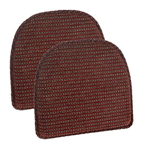 (Klear Vu Staten Gripper DelightFill Non-Slip Dining Chair Pads, 15