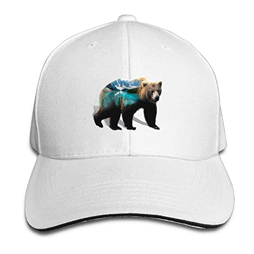 59e795ae Image Unavailable. Image not available for. Color: Adjustable Baseball Cap  Mountains Bear River Unisex Dad Hat ...