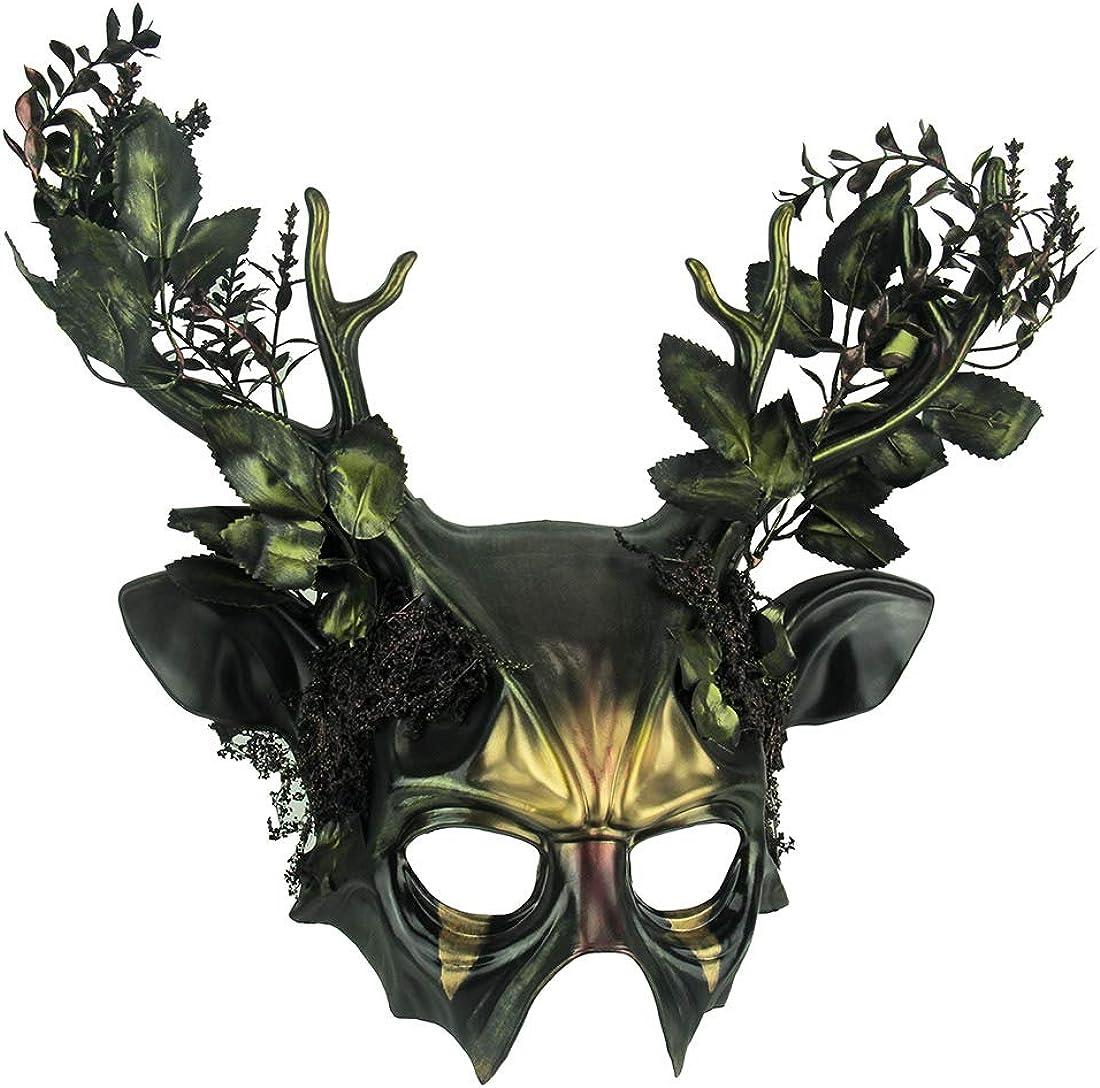 Things2Die4 Máscara de Disfraz de Ciervo de Bosque Malvado Verde ...