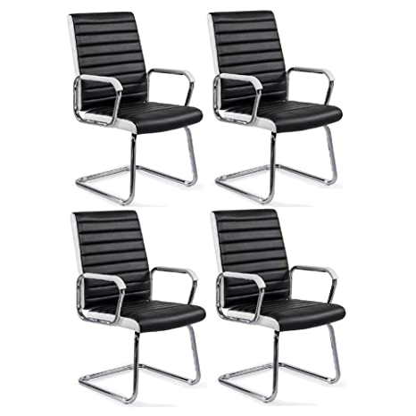 Amazon.com: Juego de 4 sillas CJC de piel sintética para ...