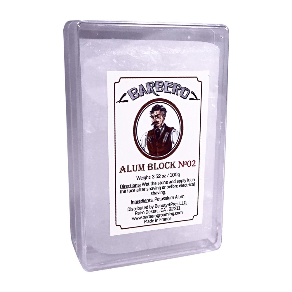 Barbero Alum Block In Plastic Case 3.52 oz / 100 g