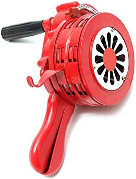 Hand Operated Crank Air Raid Safety Siren Fire Emergency Alarm Aluminum Alloy