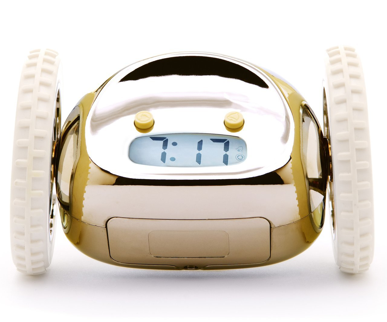 Clocky the Original Runaway Alarm Clock on Wheels, Gold | Dorm Room Décor, Back to School (Perfect for Students from Elementary School to College & Beyond) by Suck UK