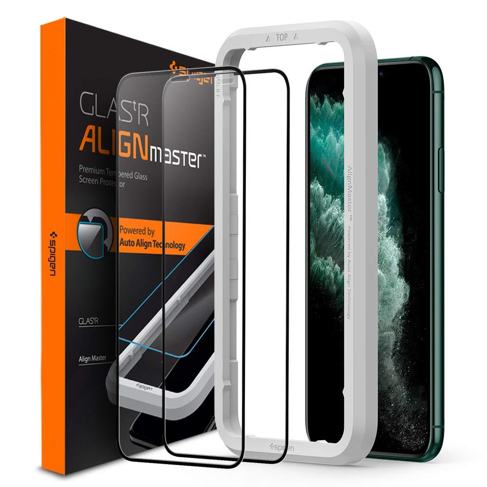 2 Vidrios Templados Para iPhone 11 Pro Max/xs Max Spigen