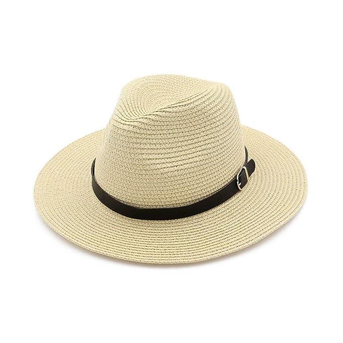 1119485f0c304 Sombrero De Panamá Sombrero De Paja Flojo para Damas Y Fácil De Igualar  Caballeros Sombrero De Playa De Verano Sombrero para El Sol Protector Solar  Sombrero ...
