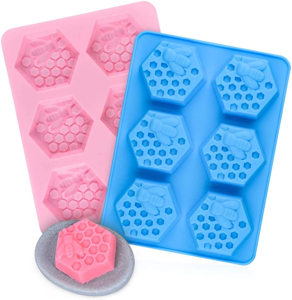 Six Honey bee Silicone Moldhoney comb Mould   queen mould plaster clay wax resin