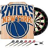 Trademark Gameroom NBA7010-NY2 NBA Dart Cabinet Set with Darts & Board - Fade - New York Knicks