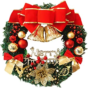 redcolourful 30/40cm Christmas Wreath Ornament for Showcase Window Prop Staging 40cm
