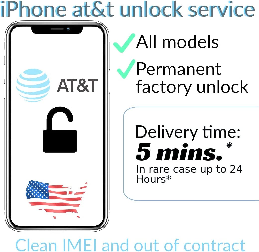 6S clean imei and out of contract 6S at/&t network unlock service usa iPhone 7