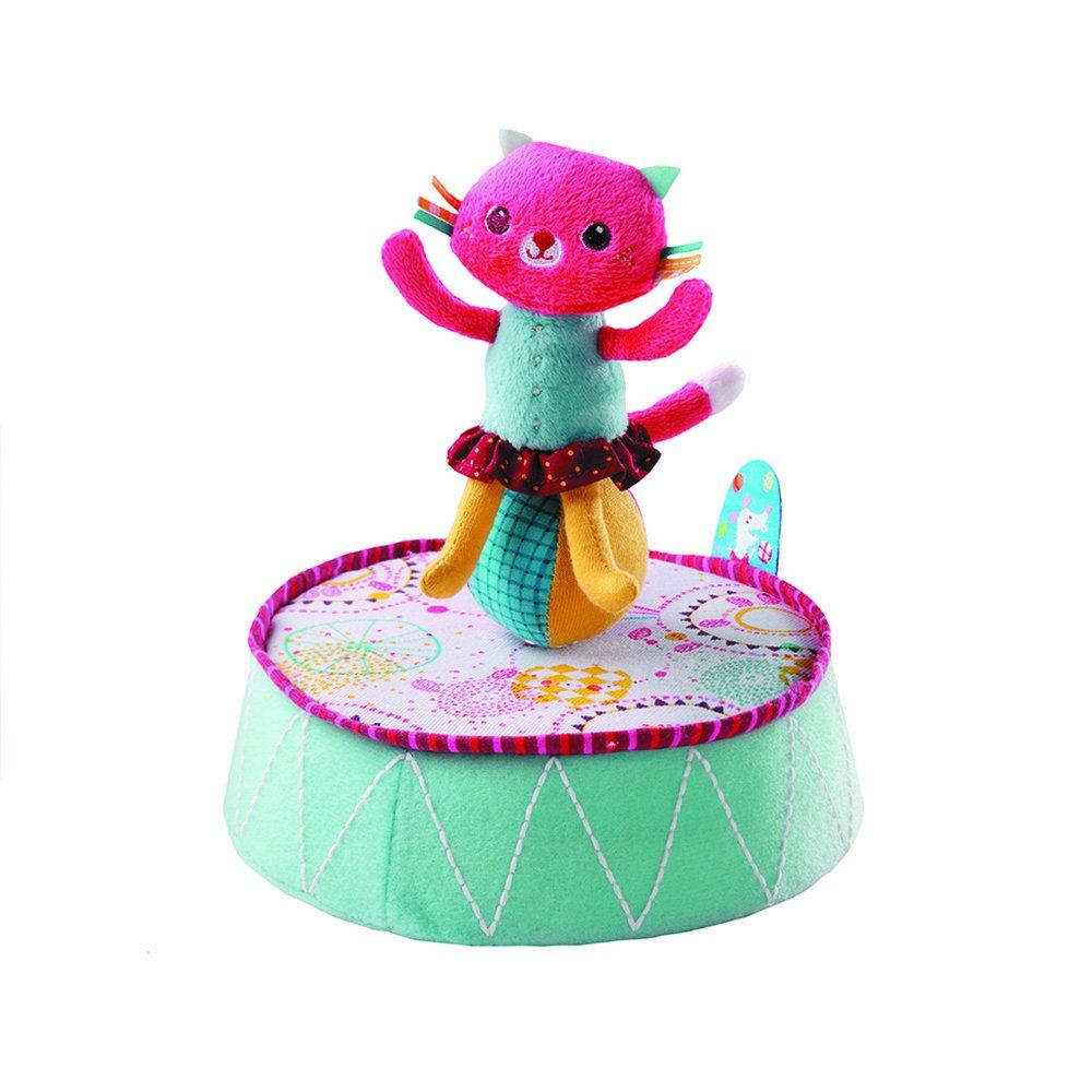 Lilliputiens 86526 - Colette Katze Musikspieldose - Spieluhr mit verschiedenen Aktivitäten