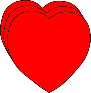 """product image for Heart Small Single Color Creative Cut-Outs 2"""", 31/pkg, red paper"""