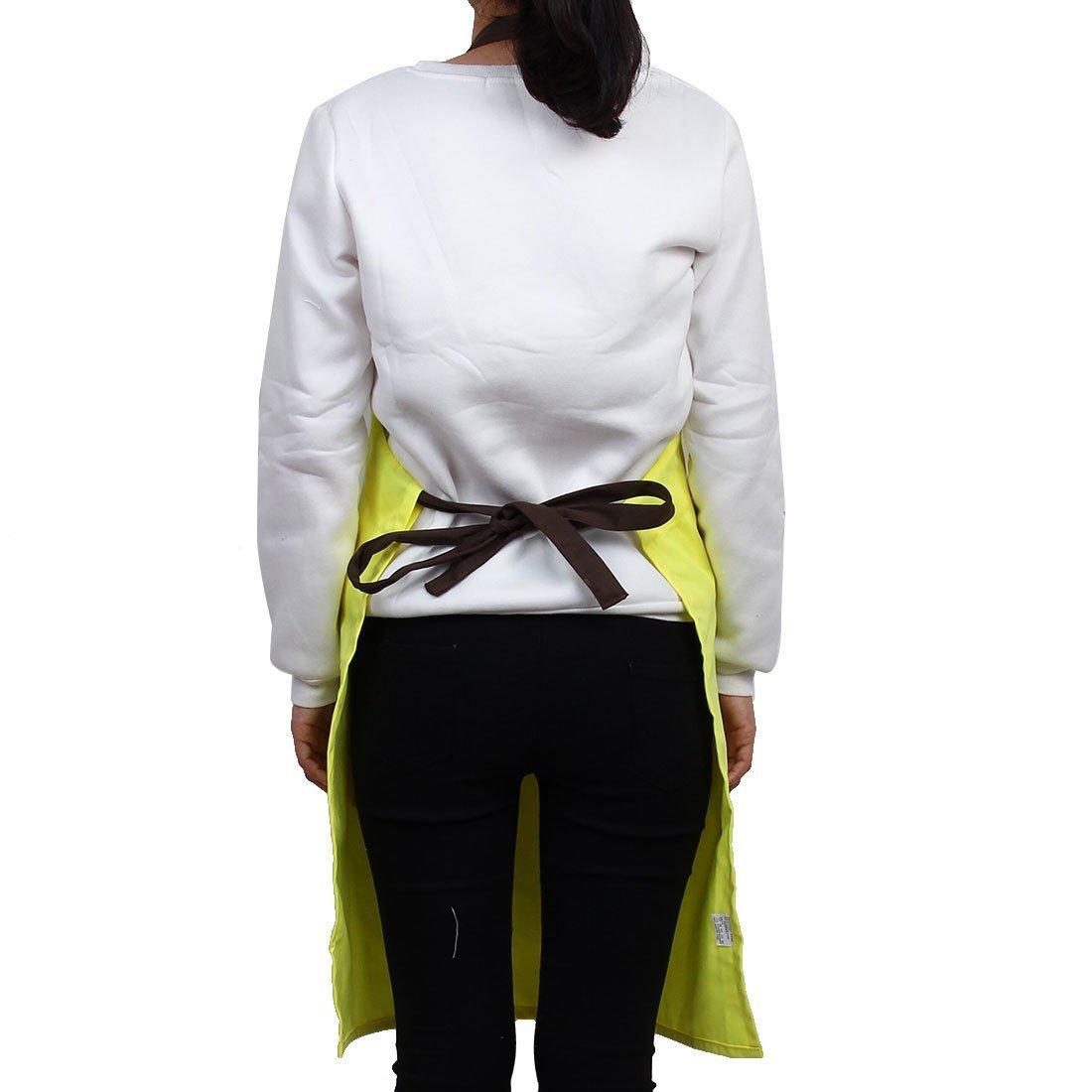 Amazon.com: Modelo de mariposa eDealMax Cocina Frente remiendo del bolsillo de cocción ajustable delantal del babero amarillo: Kitchen & Dining