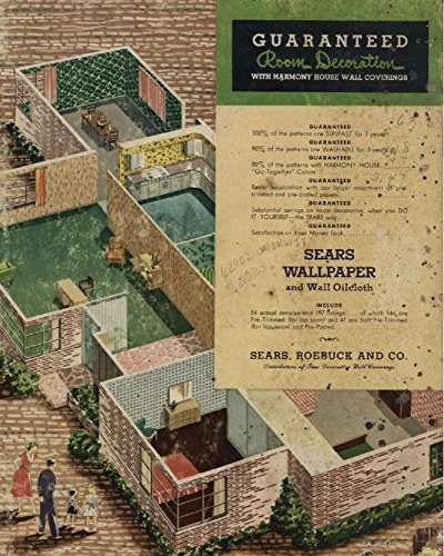 Guaranteed Room Decoration with Harmony House Wall Coverings (1954)