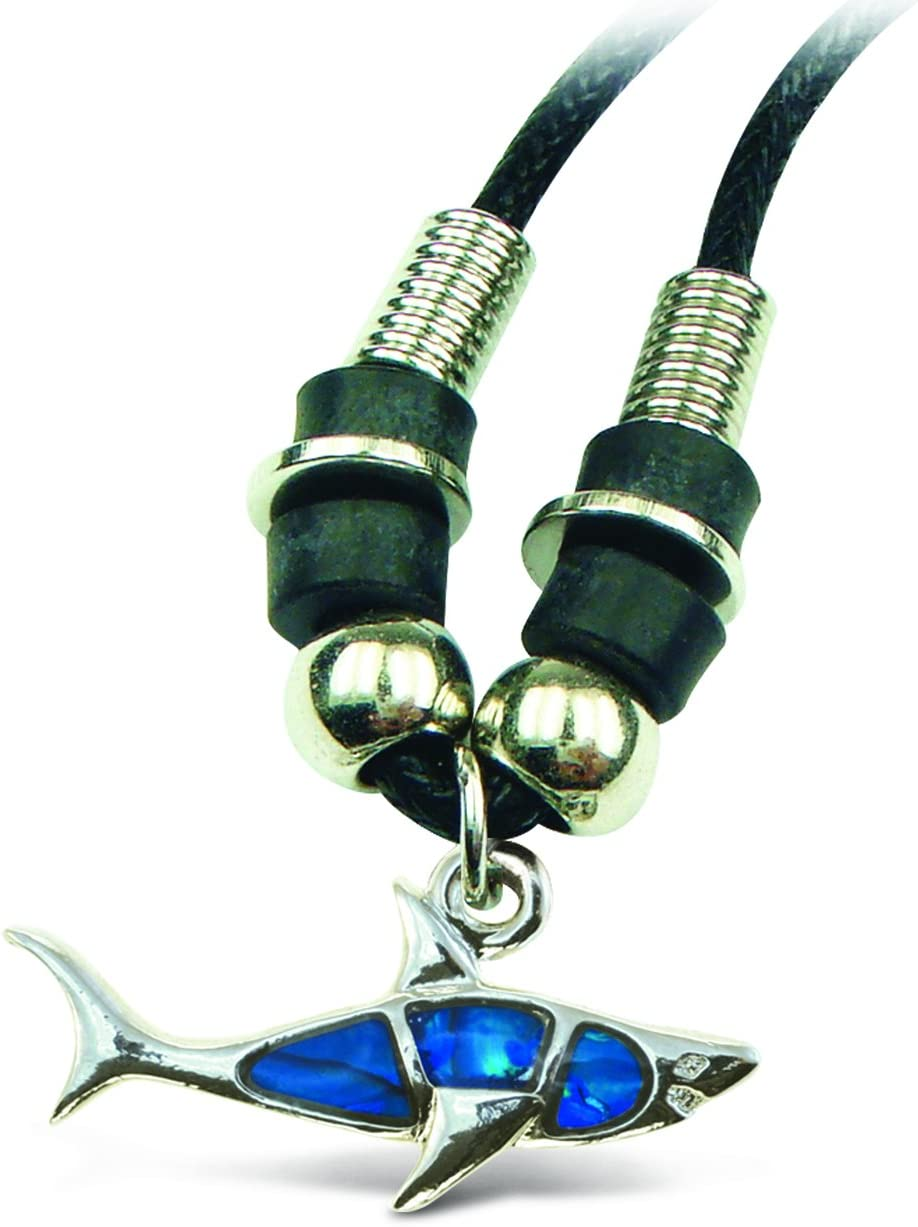 Puzzled Aqua Shark Wild Style Necklace, 18""