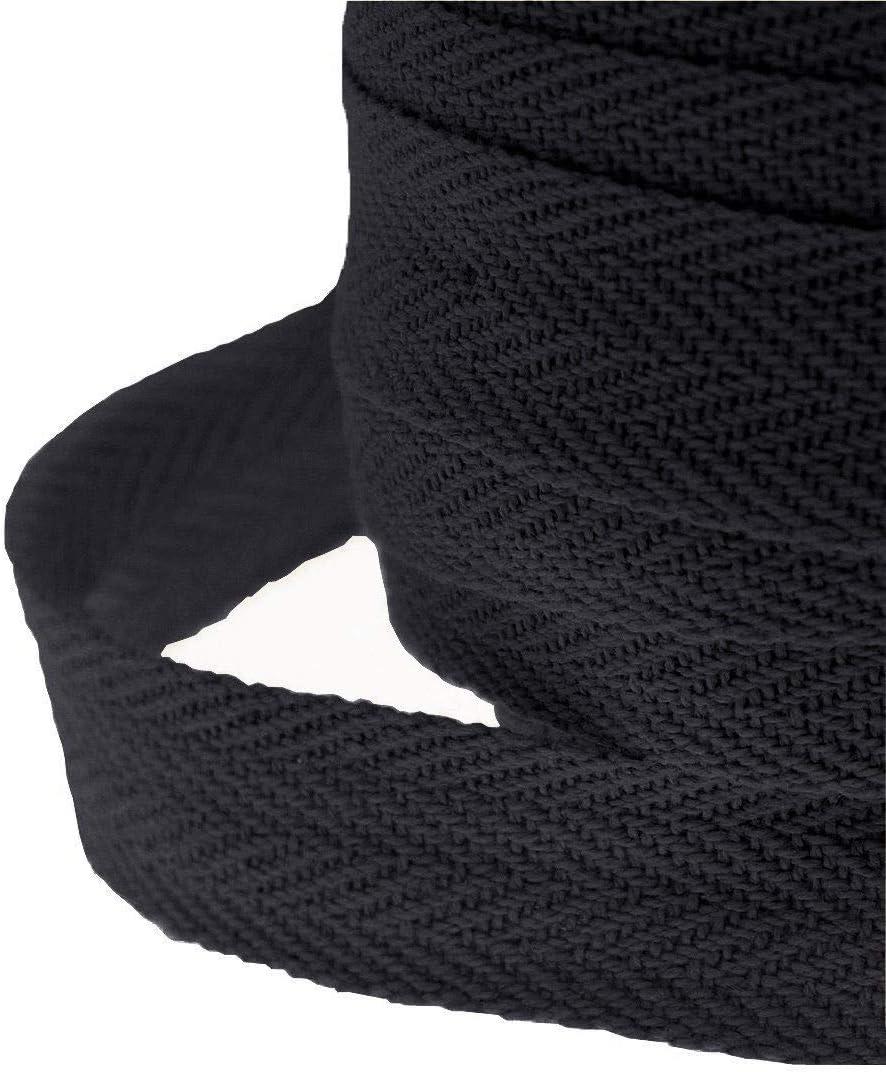 Cinta de Espina de algodón para Manualidades, Delantal, Sarga, Corte y confección, Costura, 10 m, 2,5 cm, Color Negro: Amazon.es: Hogar