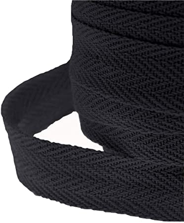 Bunting Tape 19mm Wide 50 Metre Roll of  Black  Apron 3//4 inch Apron Ties