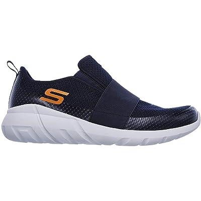 Skechers Men's Dilley Slip On Sport Shoes (12 D(M) US, Navy/Orange) | Fashion Sneakers