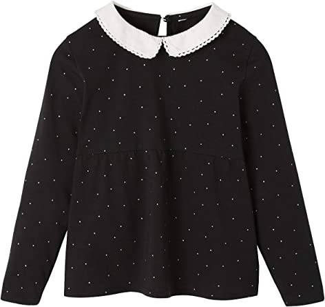 Vertbaudet - Camiseta de lunares para niña, cuello Claudine ...