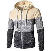 Inlefen Hoodie Men's Hoodie Colorblock Patchwork Coat Pullover Casual Sportswear