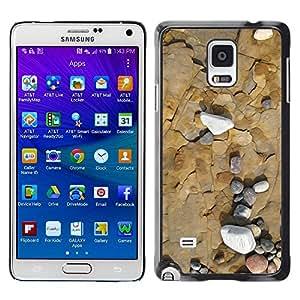 Paccase / SLIM PC / Aliminium Casa Carcasa Funda Case Cover para - Sea Beach Interesting Contour Geology - Samsung Galaxy Note 4 SM-N910F SM-N910K SM-N910C SM-N910W8 SM-N910U SM-N910