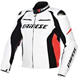 Dainese Racing D1 Perforated Leather Jacket-Euro 50 White/Black/Red