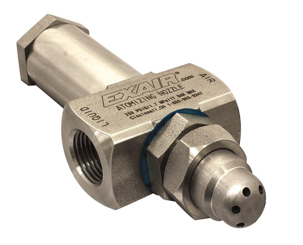 EXAIR AW6020SS No Drip Atomizing Nozzle, 115 GPH Maximum Flow Rate, 435 LPH Max