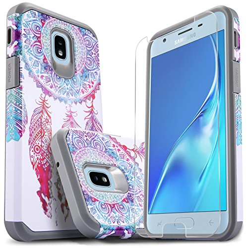 Samsung J7 Crown Case, Galaxy J7 Star, Galaxy J7 Refine, Galaxy J7 2018, Galaxy J7V 2nd Gen Case, With [Premium Screen Protector], Starshop Shock Proof Drop Protection Phone Cover -White Dream Catcher