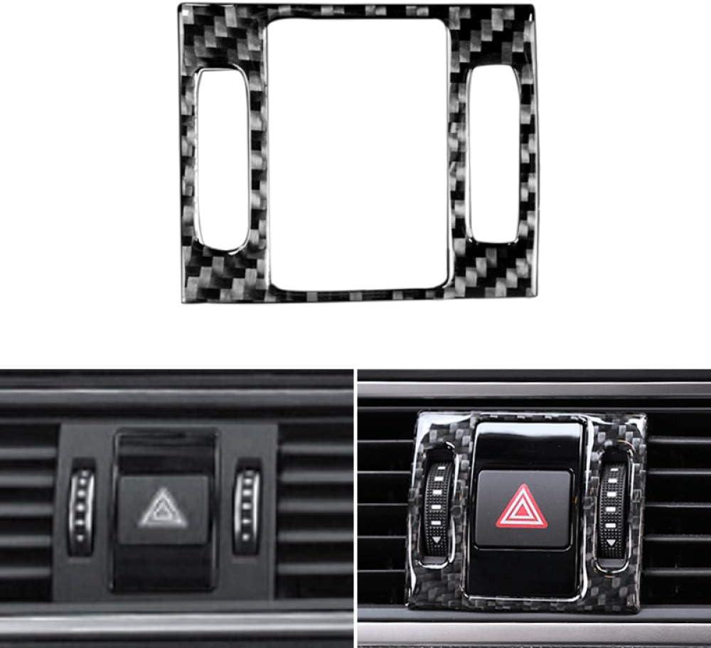 Car Styling Panel de Control Central de Fibra de Carbono Panel de luz de Advertencia Cubierta de la moldura JIERS Para Audi A6 C7 2012-2016