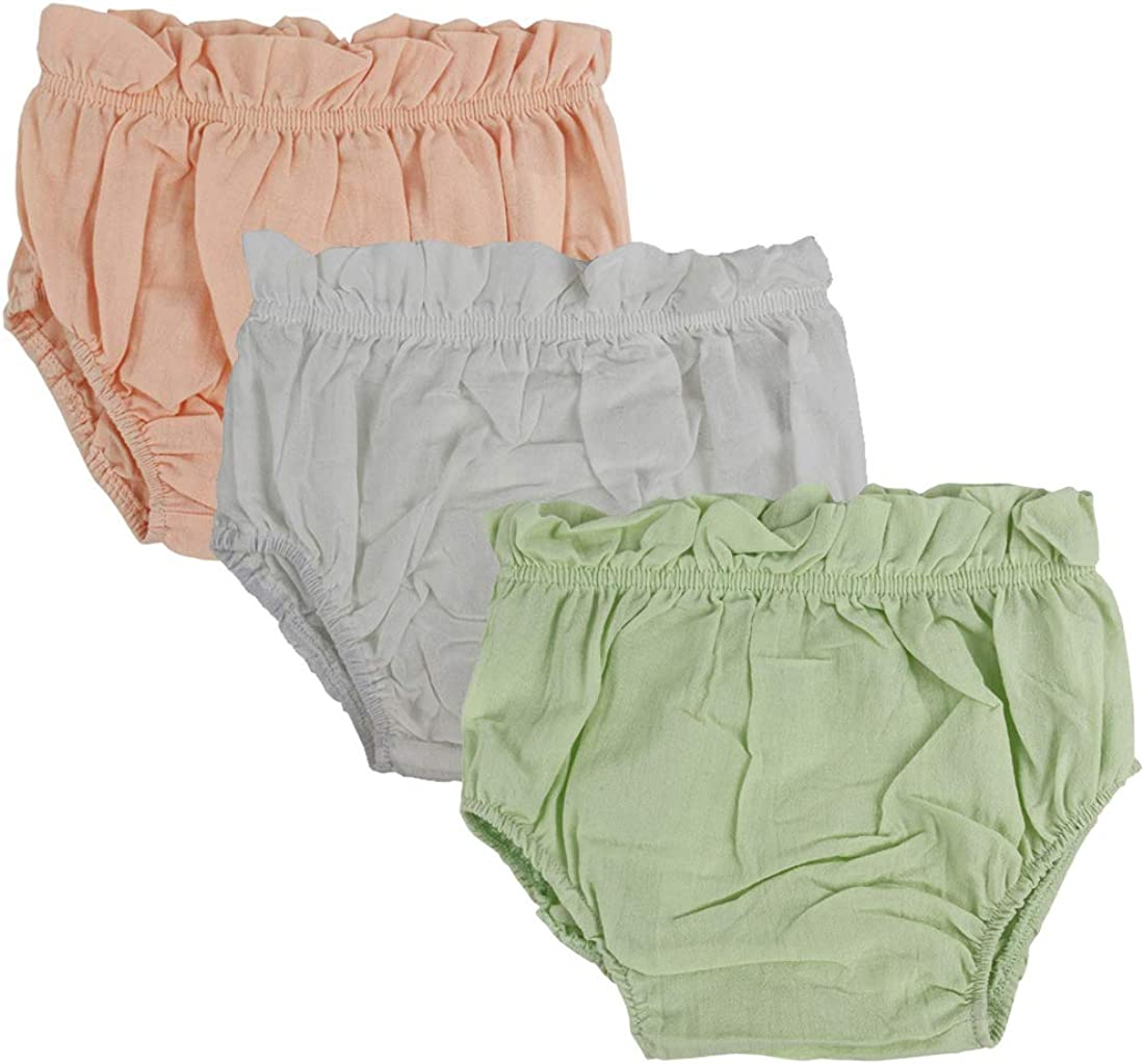 Wennikids Baby Toddler Girls Boys Diaper Covers Cotton Bloomer Shorts Pack of 3