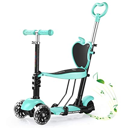 Amazon.com: Scooter Kick Adjustable Music with Seat/Putter ...