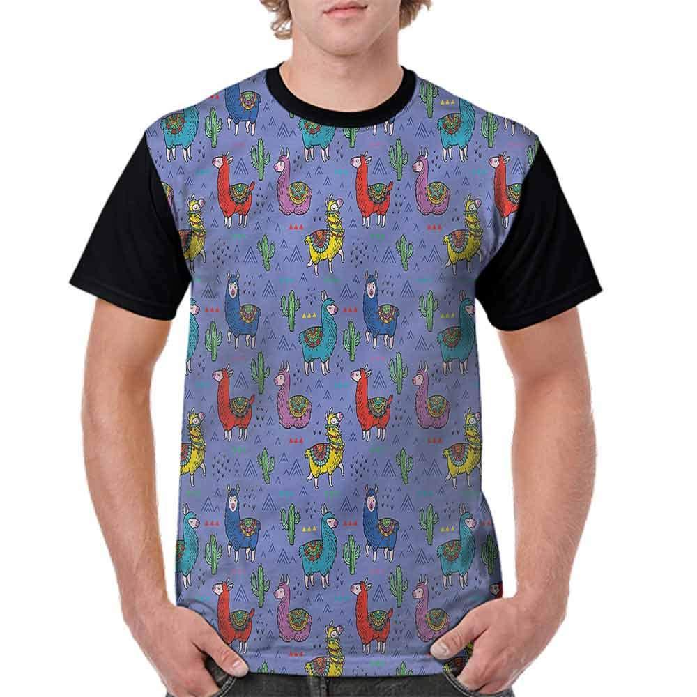 Performance T-Shirt,Animal Silhouette Lines Fashion Personality Customization