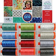 Pat Sloan Let's Go Sew Aurifil Thread Kit 12 Large Spools 50 Weight PS50LGS12