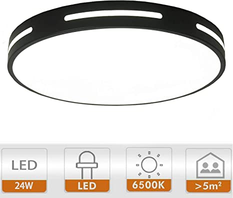 White Ganeed LED Flush Mount Ceiling Light,12 Inch LED Ceiling Lighting Fixture Round Hollow,18W 6500K Cool White Ceiling Lamp for Dining Room Hallway Living Room Kitchen Bedroom Porch