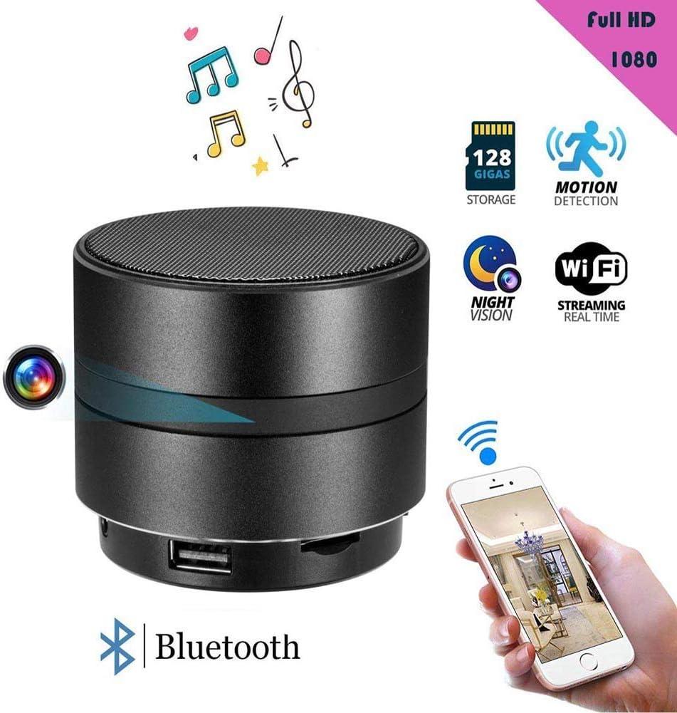 Balscw-J 4K HD Mini Espion cam/éra cach/ée IR Vision Nocturne WiFi sans Fil Bluetooth Haut-Parleur cach/é cam/éra Espion enregistreur vid/éo de d/étection de Mouvement cam/éra de s/écurit/é