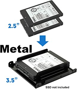 "Dual 2.5"" to 3.5"" HDD & SSD Converter Bracket Converts 2.5"" Notebook Hard Drive to 3.5"" Desktop Hard Drive Bay Mounting Bracket Adapter Mac 