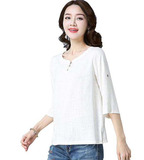 e8a32b4c6 Casual Top Magliette Canapa T Maglia Rosso Donna Shirt Cotone Dabag NvmwO8n0