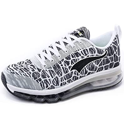 new product 803ff c426a ONEMIX Air Baskets Homme Femme Chaussures de Course Sport Gym Fitness  Running Sneaker Blanc Gris
